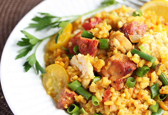 Paella with Chicken and Chorizo 6