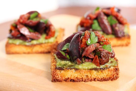 Olive Tomato Toasts 2