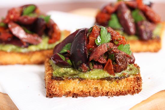 Olive Tomato Toasts 3