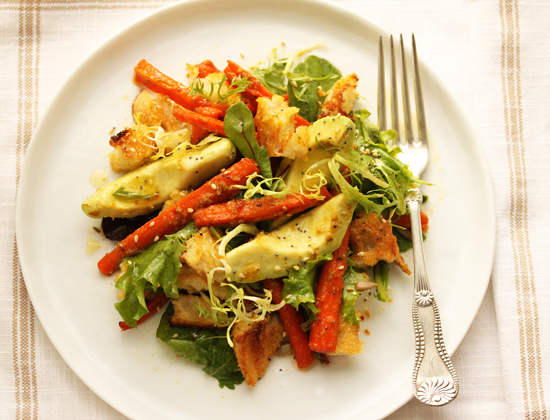 Cumin Roasted Carrots and Avocado Salad with Citrus Dressing3