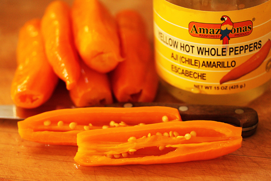 Pervnian Ceviche with Aji Amarillo Peppers 2