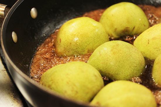 Sangria Glazed Caramelized Pears 2