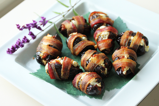 Post image for Bacon Wrapped Dates with Chorizo & Goat Cheese Plus Beautiful Christmas Bokeh