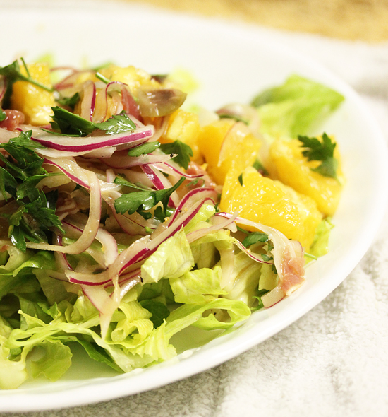 Valencia Salad with Oranges, Serrano Ham and Manchego Cheese 1