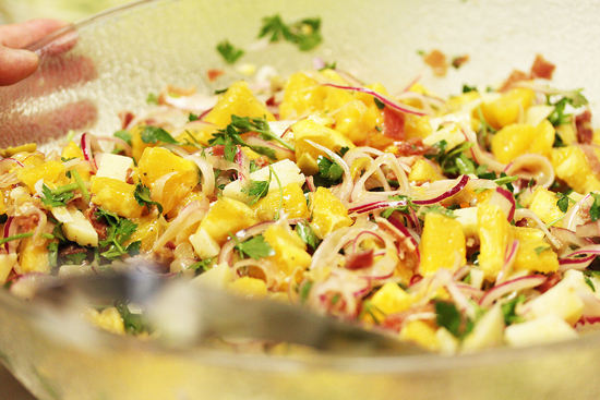 Valencia Salad with Oranges, Serrano Ham and Manchego Cheese 4