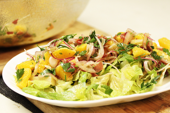 Valencia Salad with Oranges, Serrano Ham and Manchego Cheese 7