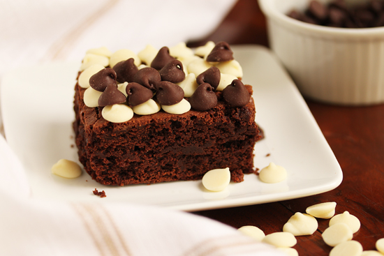 Post image for Really, Really Good Brownies ~ Bourbon-Doused with Black & White Icing
