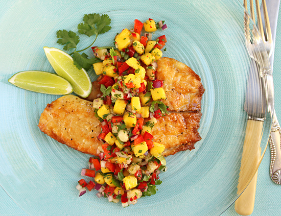 Post image for Mango & Banana Salsa with Talapia