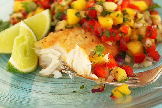 Mango-Banana Salsa with Talapia 3