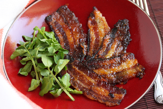 Mango-Glazed Bacon 1