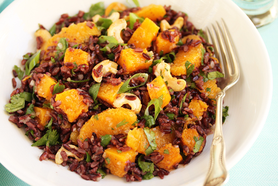 Post image for Black Rice, Butternut Squash, Orange & Cashew Salad and Two Science Experiments