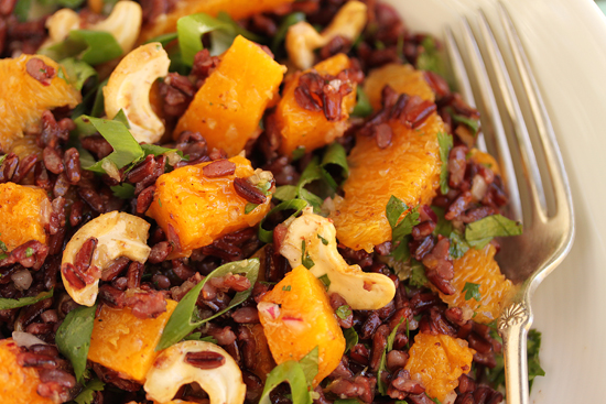 Black Rice, Butternut Squash, Orange & Cashew Salad 2