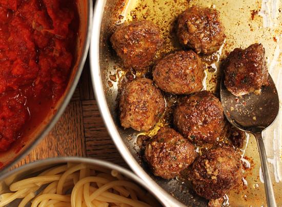 Pecorino Romano Meatballs & Spaghetti