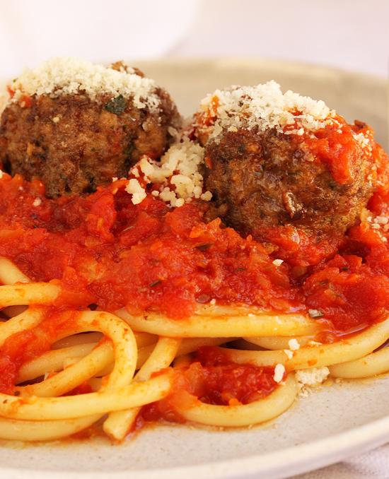 Post image for Pecorino Romano Meatballs & Spaghetti