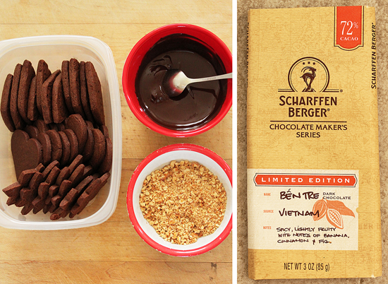 Chocolate Peanut Butter Cookies Dipped in Chocolate & Honey Roasted Peanuts 2