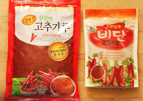 Two different brands of Gochugaru