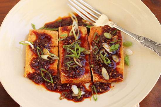 Fried Tofu with Spicy Korean Red Pepper Sauce