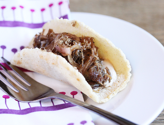 Truffled Short Rib Tacos with Pickled Shallots