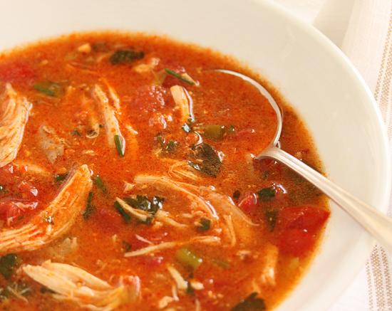 Simply Made Chicken Soup with Romesco and Pecorino Romano 2