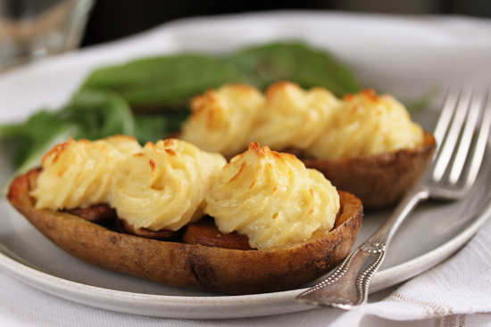 Post image for Mushroom Stuffed Duchesse Potato Skins
