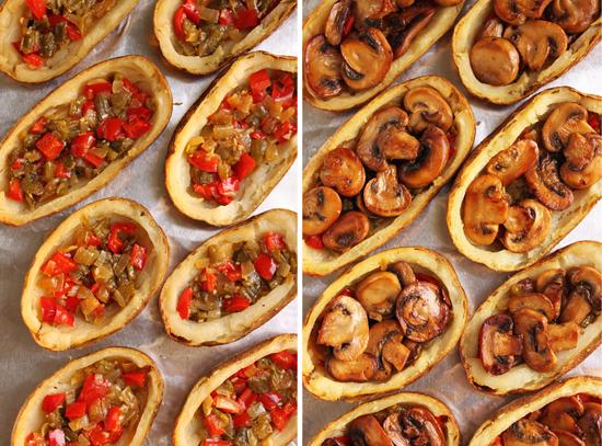 Mushroom Stuffed Duchesse Potato Skins 3