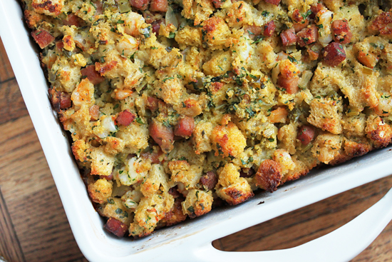 Post image for Shrimp & Ham Cornbread Stuffing