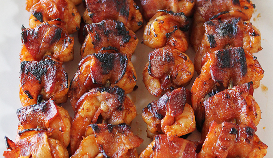 BBQ Bacon Wrapped Shrimp