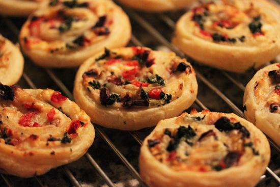 Three Cheese Stuffed Puff Pastry Pinwheels.4