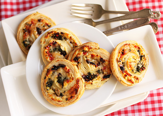 Three Cheese Stuffed Puff Pastry Pinwheels.5