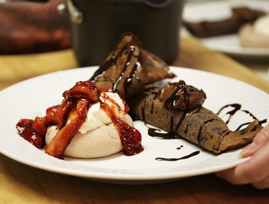 Chocolate Crepes with Chocolate Espresso Mousse 8