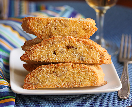 Orange Almond Biscotti Dusted with Turbinado Sugar 2