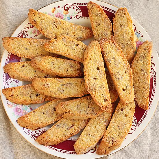 Orange Almond Biscotti Dusted with Turbinado Sugar 3