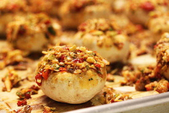 Summer Savory Stuffed Mushrooms from Grace-Marie's Kitchen