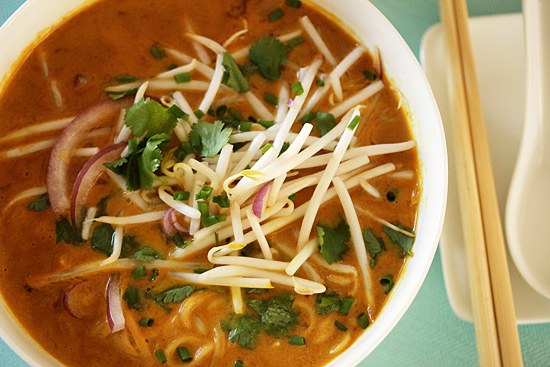 Post image for Thai Curry Chicken Noodle Soup