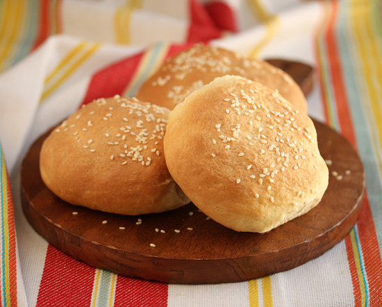 Homemade Sesame Seed Hamburger Buns 7