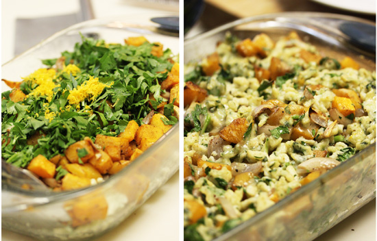 Spinach Spaetzle with Butternut Squash 4