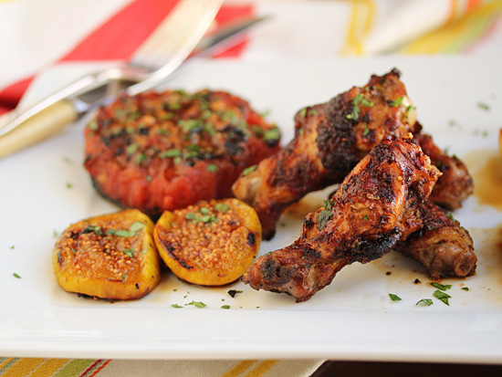Grilled Chicken Wings & Figs 1