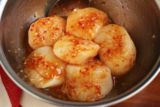 Grilled Scallops with Red Yuzu Kosho Vinaigrette 3