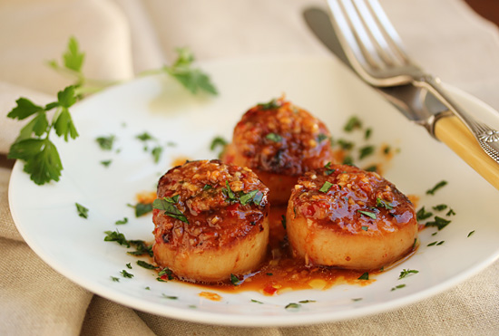 Grilled Scallops with Red Yuzu Kosho Vinaigrette 5
