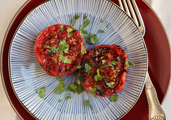 Post image for Grilled Tomatoes with Red Yuzu Kosho and Sansho