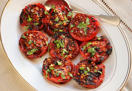 Grilled Tomatoes with Red Yuzu Kosho 5