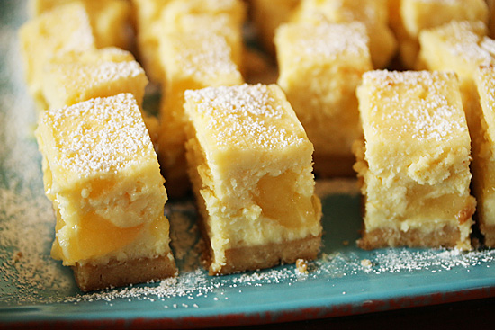 Post image for Lemon Swirl Cheesecake Bars