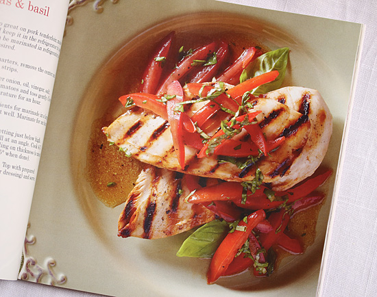 Grilled Chicken with Romas & Basil