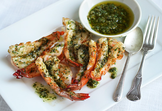 Post image for Spicy Grilled Shrimp with Green Yuzu Kosho Pesto