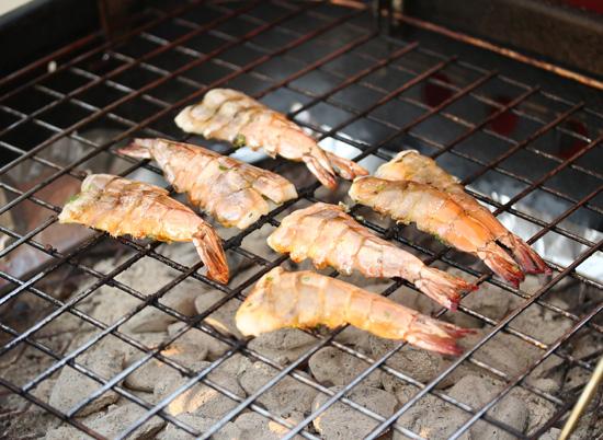 Spicy Grilled shrimp with Green Yuzu Kosho Pesto 4
