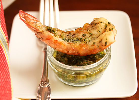 Spicy Grilled shrimp with Green Yuzu Kosho Pesto 5