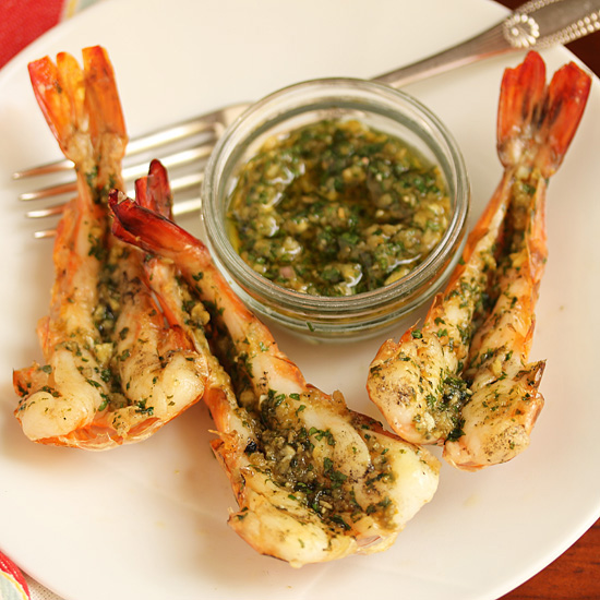 Spicy Grilled shrimp with Green Yuzu Kosho Pesto 6