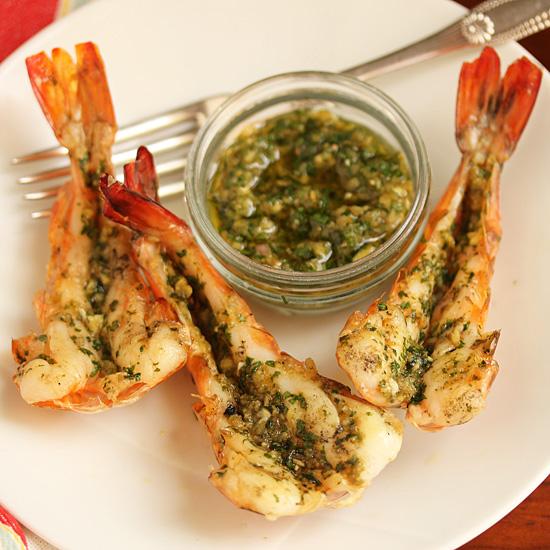 Spicy Grilled shrimp with Green Yuzu Kosho Pesto 6