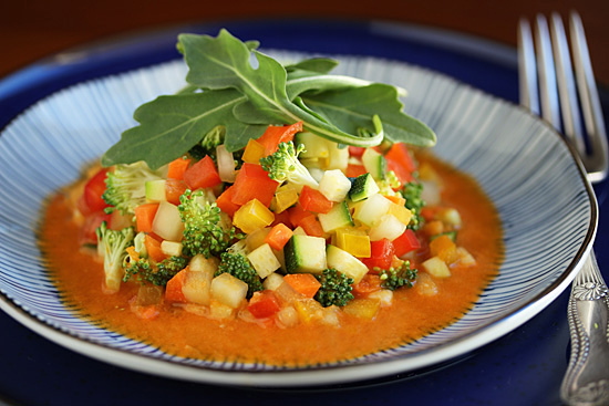 Post image for Confetti Salad with Carrot Juice Vinaigrette