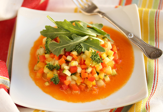 Confetti Salad with Carrot Juice Vinaigrette 4